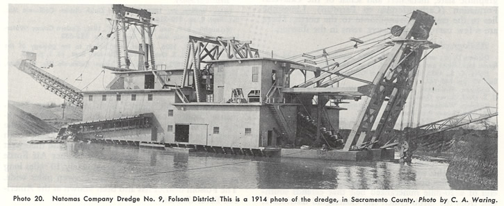 Natomas Company Dredge No. 9, Folsom District