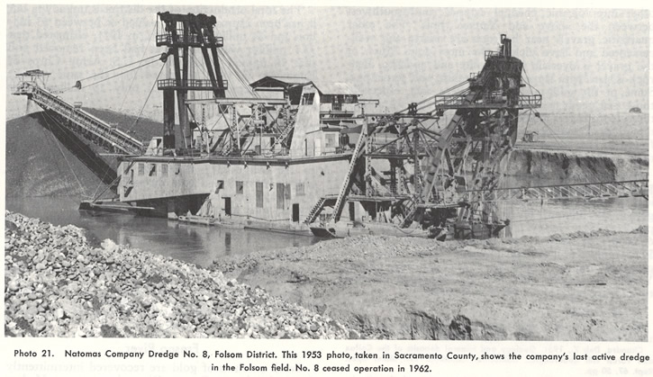Natomas Company Dredge No. 8, Folsom District