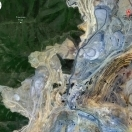 Satellite View Of Bingham in Relation to the Open-Pit Mine