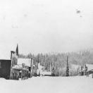 Snowy scene in Greenhorn City