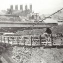 Foot Bridge Across River at the Mammoth Smelter