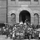 Silver Plume School and School Children 1894