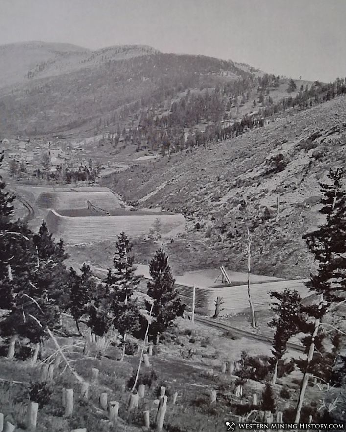 tailing dams of the Elkhorn mill