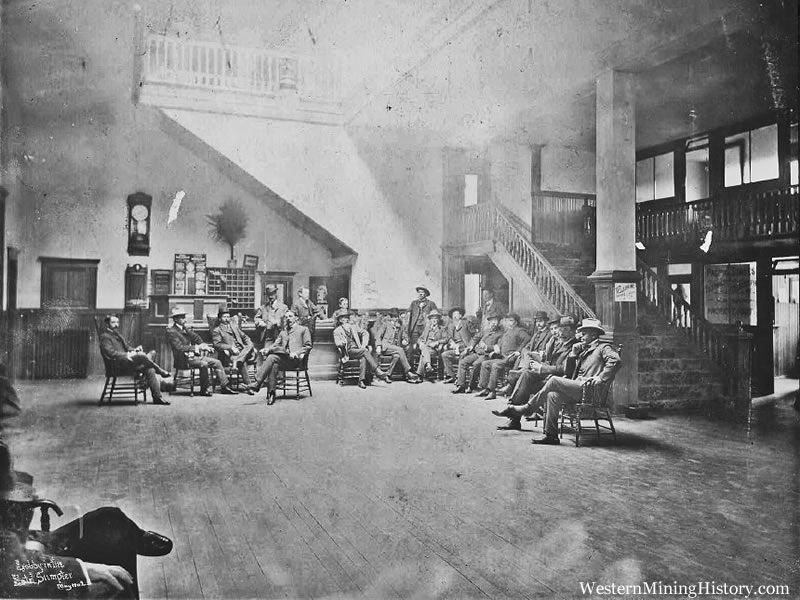 Lobby of Sumpter Hotel, May 1902